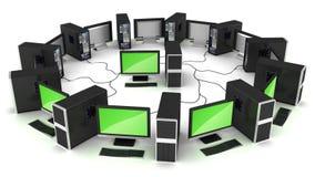 计算机概念连接数网络 免版税库存照片