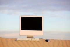计算机沙漠 免版税库存照片