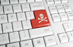 计算机海盗行为 免版税库存图片