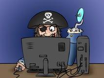 计算机海盗 库存例证