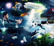 计算机游戏世界  图库摄影