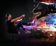计算机游戏世界  免版税库存照片