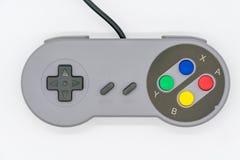 计算机游戏控制杆在白色隔绝的USB控制器 库存照片