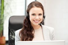 计算机热线服务电话膝上型计算机运&# 免版税库存照片