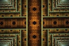 计算机生成的抽象五颜六色的分数维艺术品 向量例证