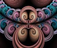 计算机生成的抽象五颜六色的分数维艺术品 库存例证
