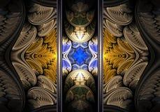 计算机生成的抽象五颜六色的分数维艺术品 皇族释放例证