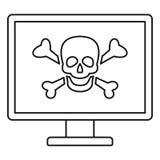 计算机病毒攻击象,概述样式 库存例证