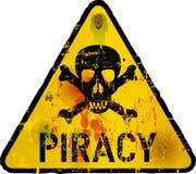计算机病毒,海盗行为 免版税库存照片