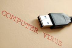 计算机病毒 免版税库存照片
