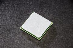 计算机的处理器有热量浆糊的申请了对此 计算机系统单位的细节 库存图片