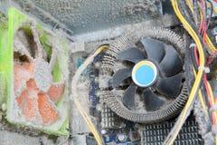 计算机的多灰尘的零件 库存图片
