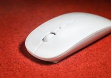 计算机的白色鼠标设备 免版税库存照片