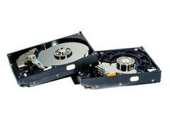 计算机的硬盘在白色背景 库存照片