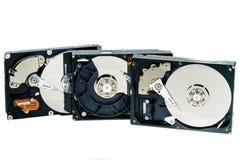计算机的硬盘在白色背景 免版税库存图片