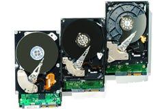 计算机的硬盘在被隔绝的白色背景 免版税库存照片