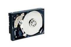 计算机的硬盘在被隔绝的白色背景 库存图片