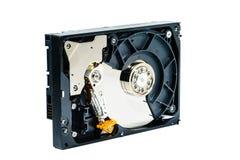 计算机的硬盘在被隔绝的白色背景 免版税库存图片