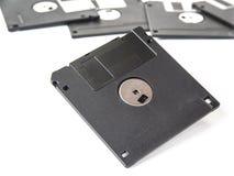 计算机的老软盘在白色 免版税图库摄影