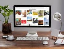 计算机的综合图象有个人组织者和财产的 库存照片