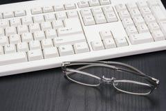 计算机的玻璃 免版税库存图片