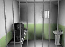 计算机监狱 免版税库存照片