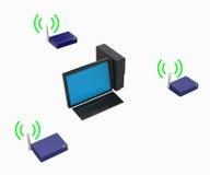 计算机硬件个人计算机无线 图库摄影