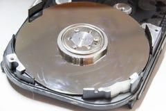 计算机硬盘的特写镜头 免版税库存照片