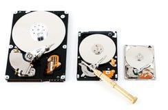 计算机硬盘驱动器形状因子 免版税库存图片
