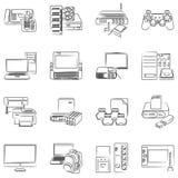 计算机硬件图标 库存图片