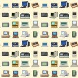 计算机科技传染媒介演变显示通讯工具金属个人计算机显示器框架现代办公室网络 皇族释放例证