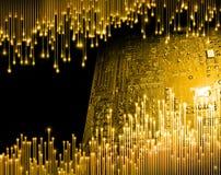 计算机科技的黄金时代 库存图片