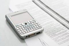 计算机移动电话组织者 免版税库存图片