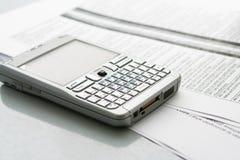 计算机移动电话组织者 免版税库存照片