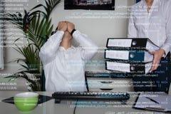 年轻计算机程序设计者 库存照片
