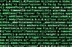 计算机程序预览 编程的代码键入 信息技术网站网络设计的编制程序标准 免版税库存图片