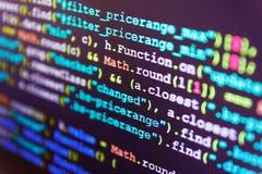 计算机程序预览 图库摄影