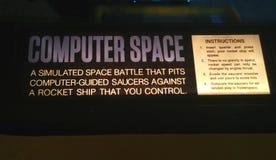 计算机空间指示-第一个娱乐游戏 库存照片