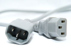 计算机绳子电源 库存照片