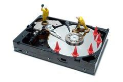 计算机维修服务的磁盘驱动器概念 免版税库存照片