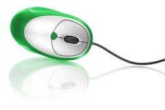 计算机绿色鼠标 免版税库存图片