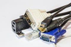计算机缆绳 库存照片