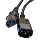 计算机缆绳 图库摄影