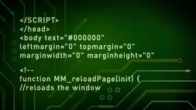 计算机编码和电路绿色 库存例证
