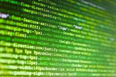 计算机编码数据 在显示的数字技术 图库摄影