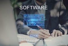 计算机网上技术创新想法概念 免版税库存图片