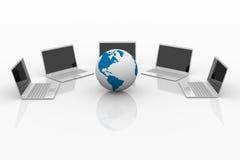 计算机网络。 库存图片