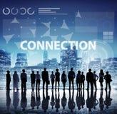 计算机网络互联网连接数字式概念 免版税库存照片