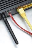 计算机网络缆绳和互联网路线 免版税图库摄影