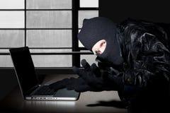计算机罪犯 图库摄影